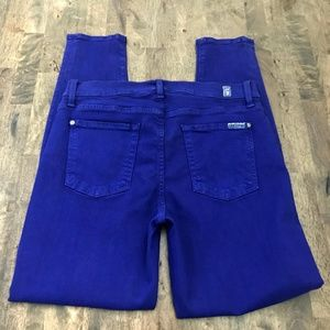 7 For All Mankind Pants - 7 For All Mankind Cobalt Blue Skinny Pants 30